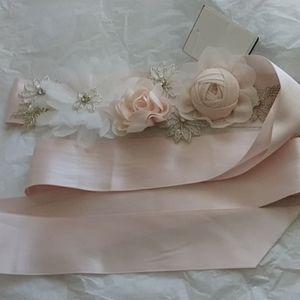 Floral bridal sash (belt)
